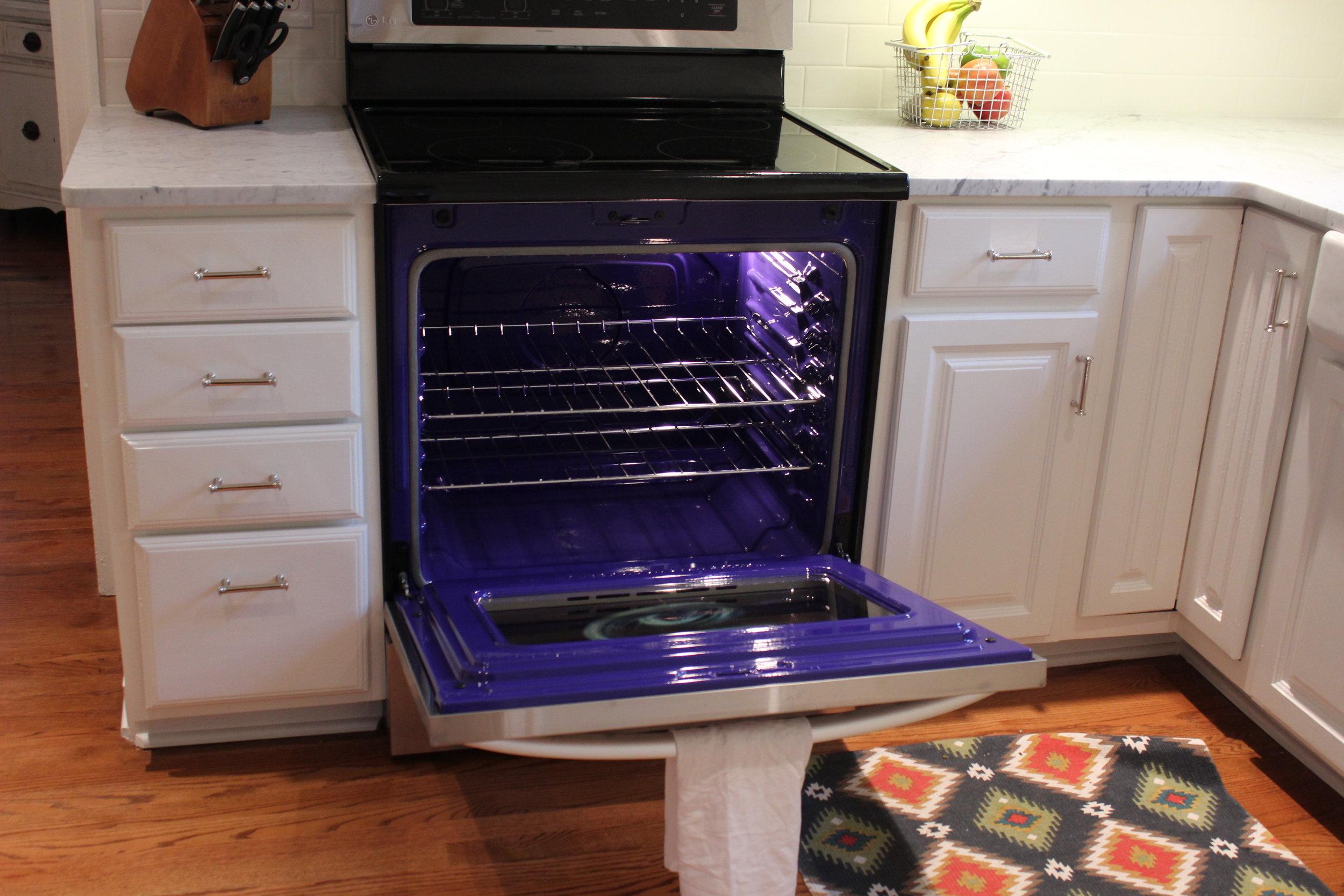 LG blue oven
