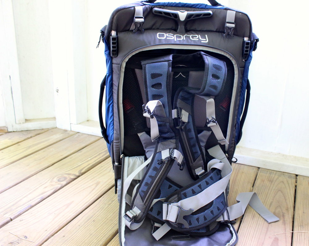 Unzipped Osprey Backpack