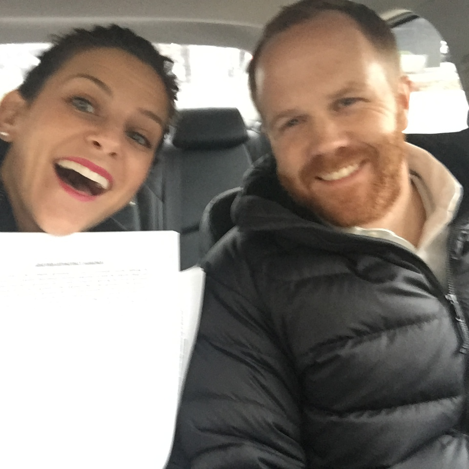 "Here's a blurry photo of us just before mailing in our final paperwork to go ""live"" with an adoption agency."