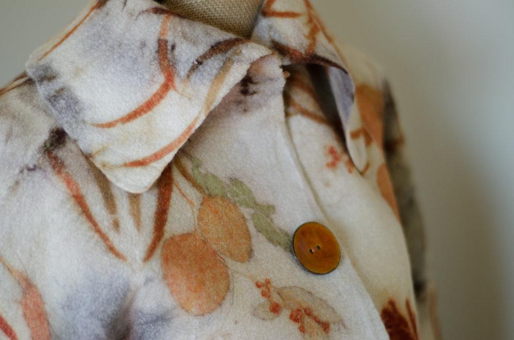 Nuno felted coat