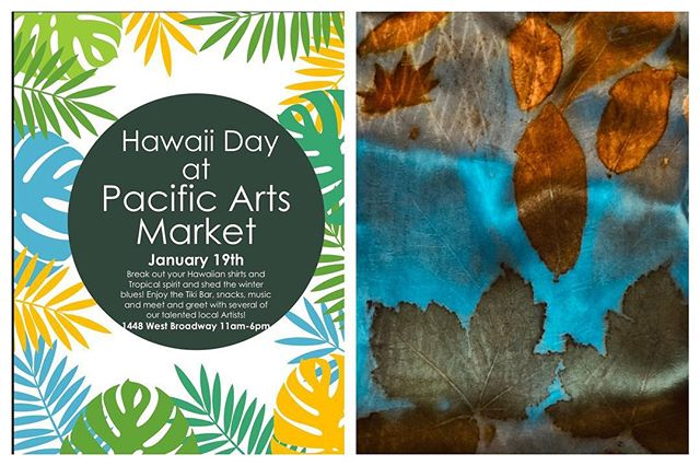 Come check out Hawaii Day, tomorrow at the Pacific Arts Market! A curated collection from local artists, many who will be present to showcase their own work. #madeinvancouver #shopvancouver #vancouverevents #vancouverartist #vancouvermarket #vancouvermakers #pacificartsmarket