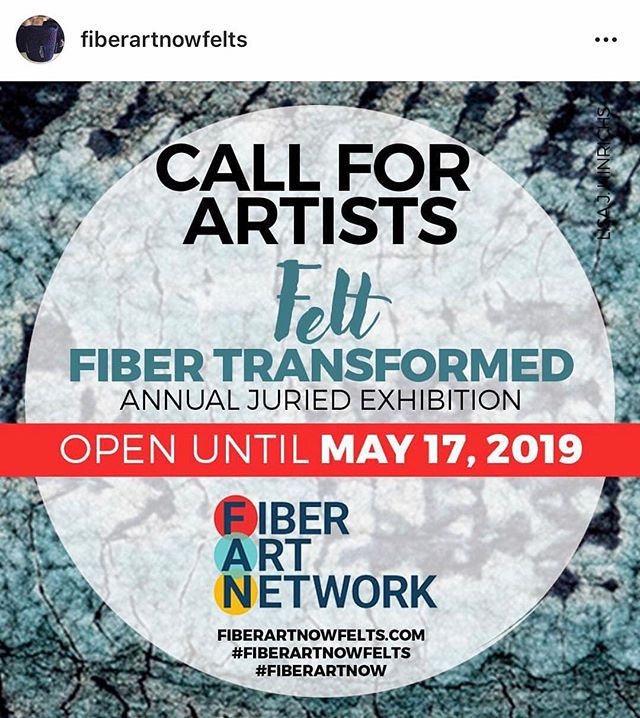 This is super exciting!  Fiber Art Now magazine has got an Instagram account dedicated to showcasing felt artists featured in their annual juried exhibition. @fiberartnowfelts