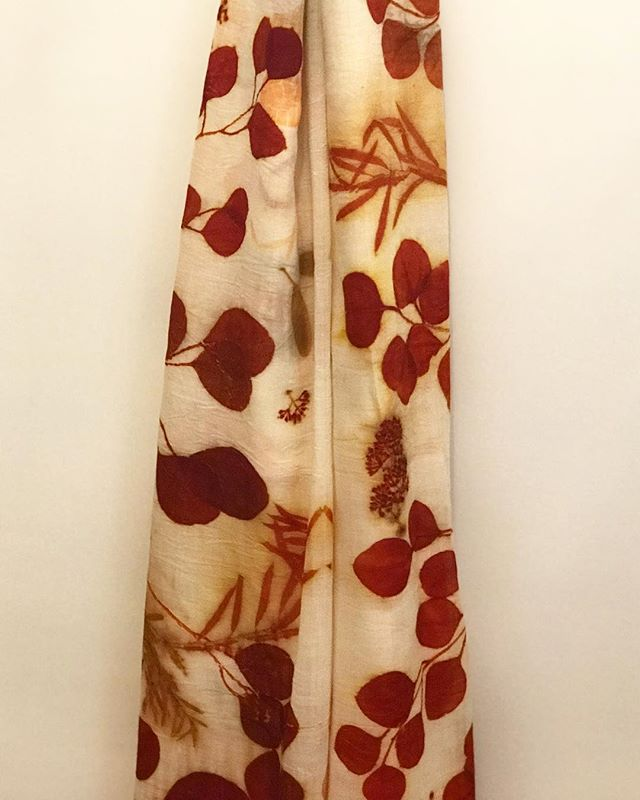 I never get tired of making these eco printed shawls, this is Italian wool fabric with eucalyptus of course. The depth of color, the clarity of the prints, it just takes my breath away. Magical gifts from nature❤️ #sustainabledesign #curatedstyle #sustainableluxury #ecoluxury #ecofashion #contemporarytextiles #textileartist #plantdye #naturalfibers #handdyed #ecoprint #ecoprinting #ecoprinted #botanicalprint #leafprint #eucalyptus #inspiredbynature #vancouvermade #vancouverdesigner #vancouverartist #purewool #italianwool