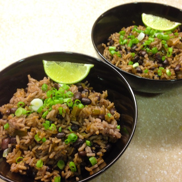 Made @testkitchen's fantastic recipe for Cuban-style black beans and rice for dinner tonight