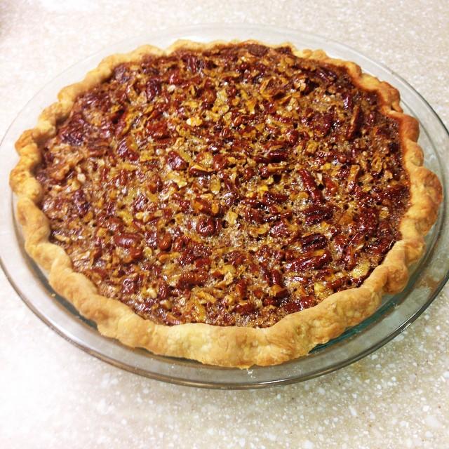 Look! I made pecan pie!