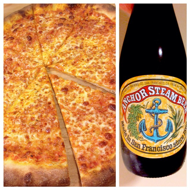 Homemade pizza and (not homemade) beer night. PS I only post pictures of food now.