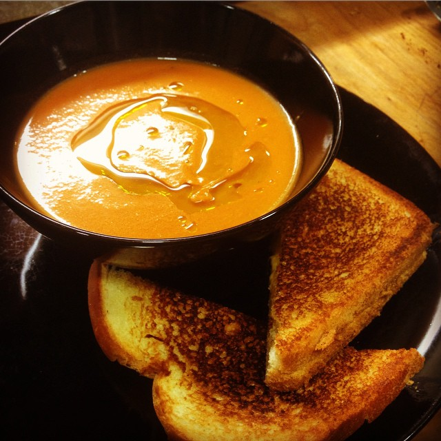 When I'm sick all I want is to eat tomato soup with a grilled cheese and watch Blue Planet.