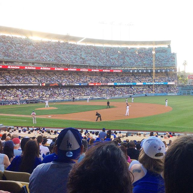 Starting off America's birthday right with a Dodgers game #LA #baseball #America