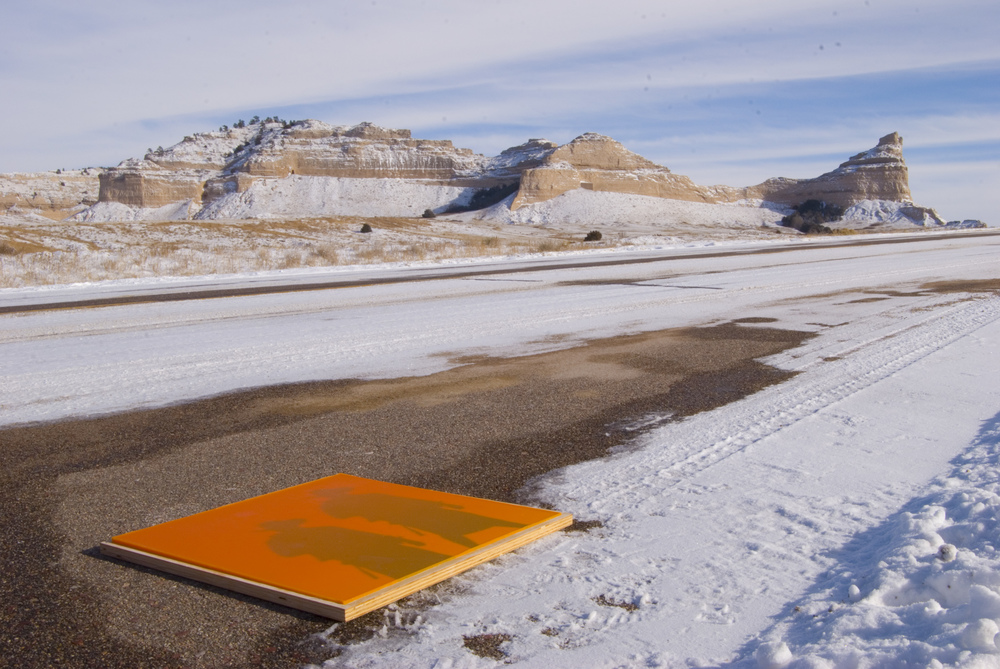 50 STATES WYOMING_Nick Vaughan and Jake Margolin_Wax panel in the snow at Scotts Bluff.jpg