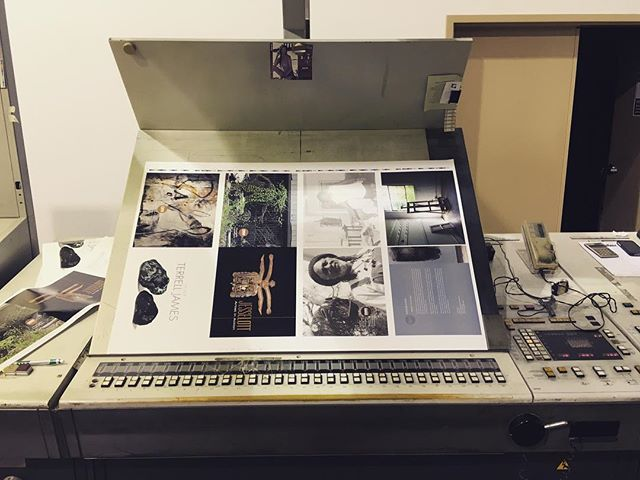 So exciting!!! Press check on the Heidelbergs for Jesse and Terrell's exhibition catalogs!!