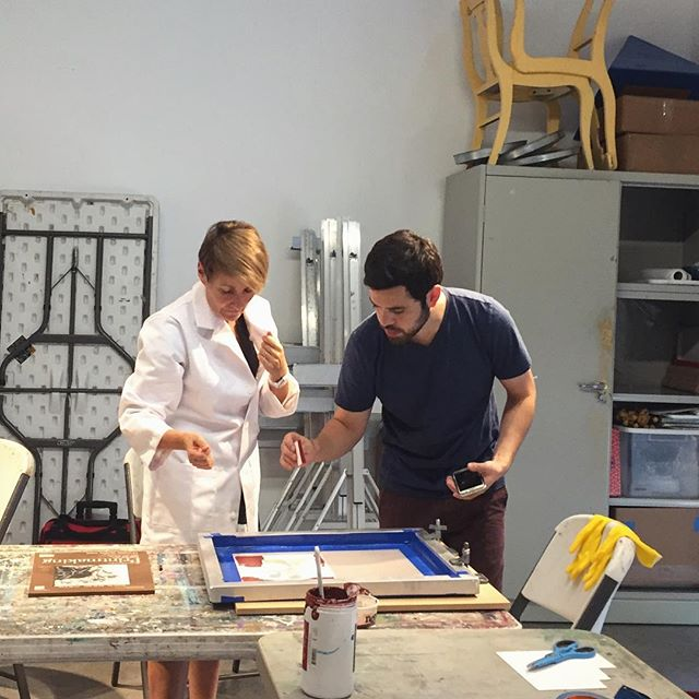 Fall classes are in full swing! Alexander Squier is leading an intensive silkscreen class this fall (that will also be offered in winter 2017).