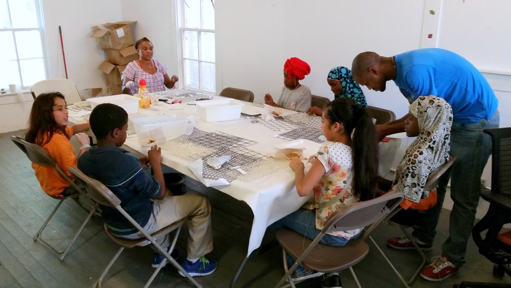Volunteer Beading Session at Project Row Houses