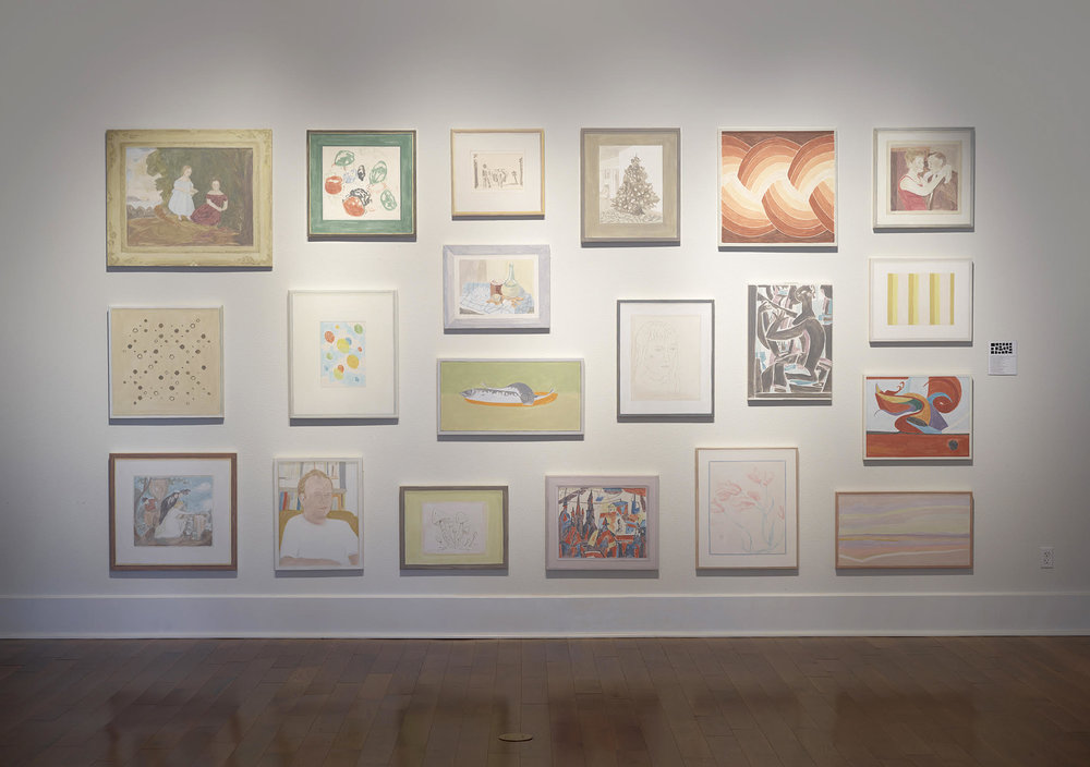 Installation view, Francesca Fuchs, Galveston Arts Center, 2015. Photo by Tom DuBrock