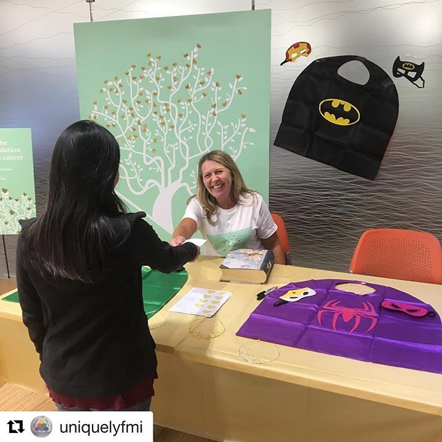 This week, @uniquelyfmi is hosting a supply drive for us, gathering superhero capes and tiaras, to honor Childhood Cancer Awareness Month! Employees purchase a gold heart, the equivalent of a tiara or cape, and hang it on the tree. What a creative idea! And a generous company with generous employees - thank you!  #Repost @uniquelyfmi with @get_repost ・・・ This week, our employees are donating costumes and tiaras to @foradayfdn for children with cancer! #childhoodcancerawareness #childhoodcancerawarenessmonth