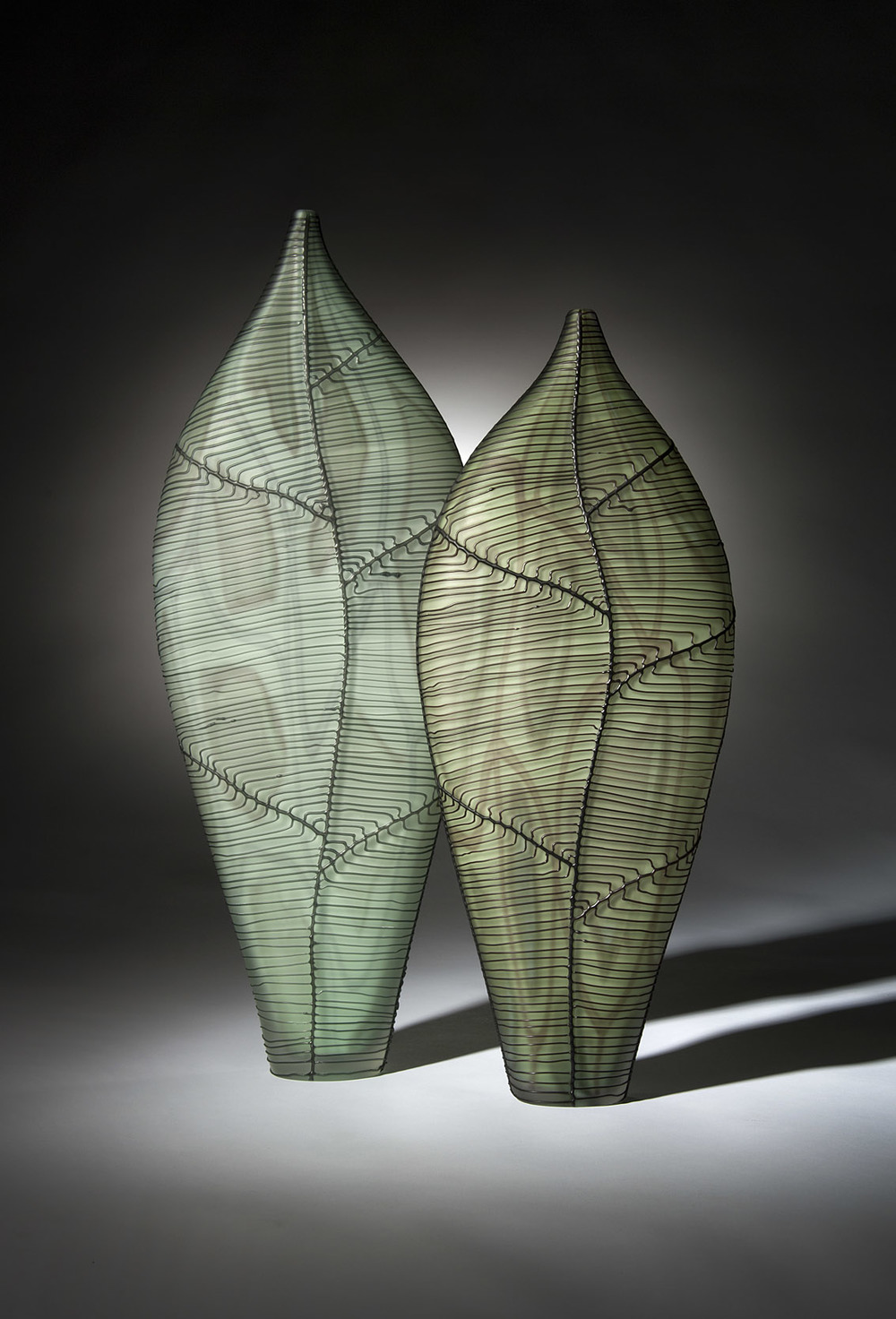 Leaf Circuitry, pair, 2012 In the collection of the Corning Museum of Glass, USA