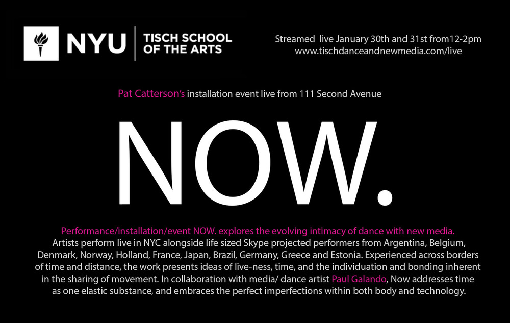 Click the above image or this link to view the archived live stream of the Sunday Jan. 31st performance of NOW.
