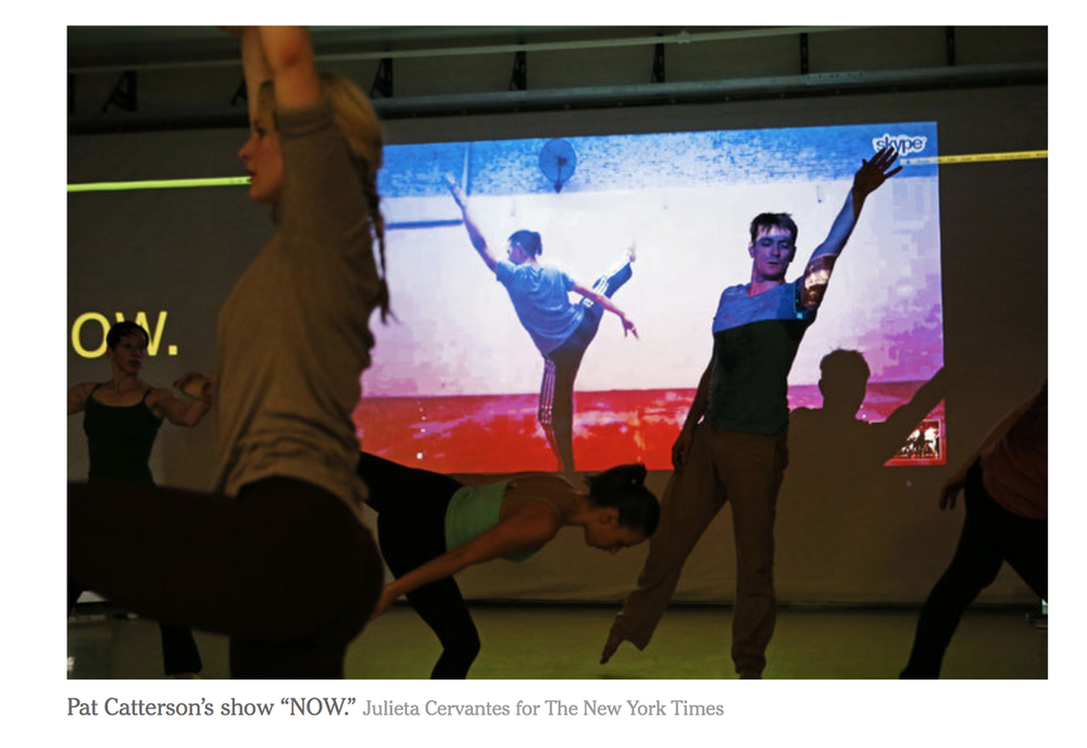 New York Times Brian Seibert's review:    http://www.nytimes.com/2016/02/01/arts/dance/review-now-uses-technology-to-pair-dancers-thousands-of-miles-apart.html