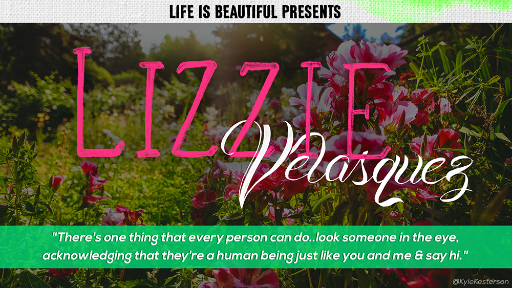 Lizzie Velasquez, 25 years old, is a graduate of Texas State University, a motivational speaker, and author of three books: Lizzie Beautiful, Be Beautiful, Be You, and Choosing Happiness. She is one of only three known people in the world with a medical condition that doesn't allow her to gain weight or create muscle.