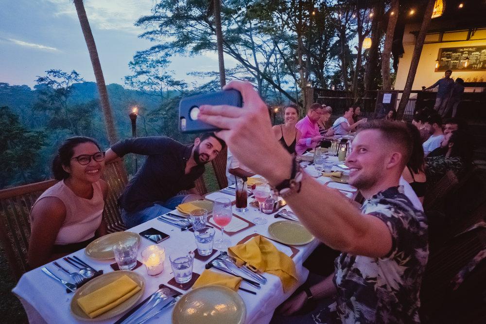 Tim snaps a selfie