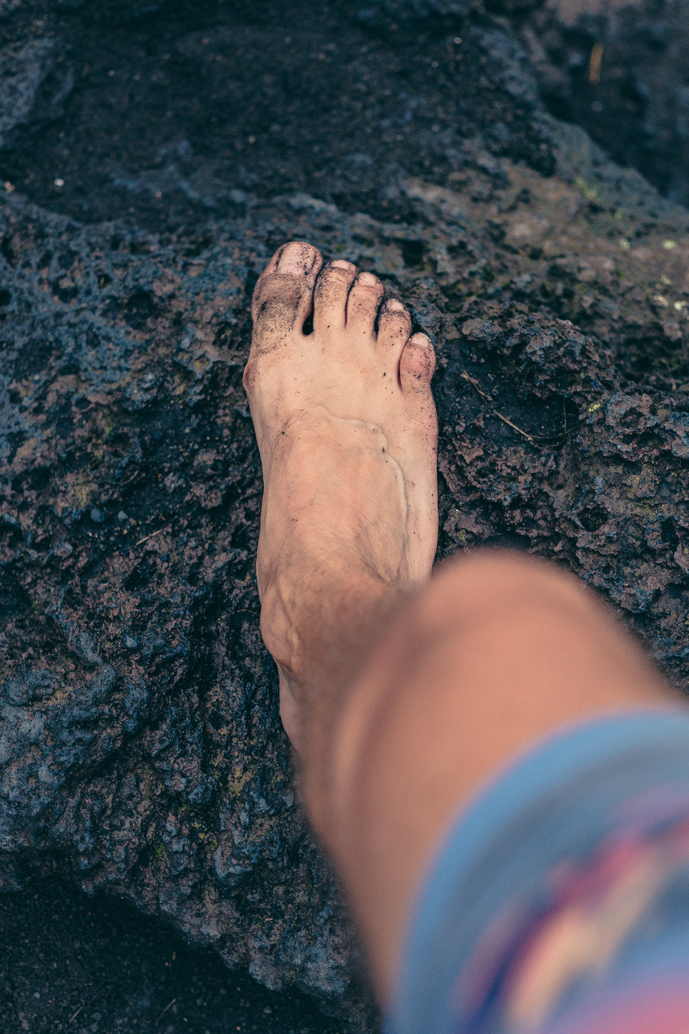 Climbing Mt. Batur, up and down barefoot