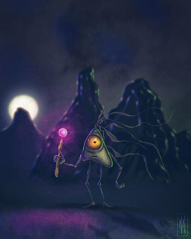 The full moon night watch usually passes by without incident. However during tonight's full Snow Moon rising, this Salavod is alarmed by an unusual presence lurking.
