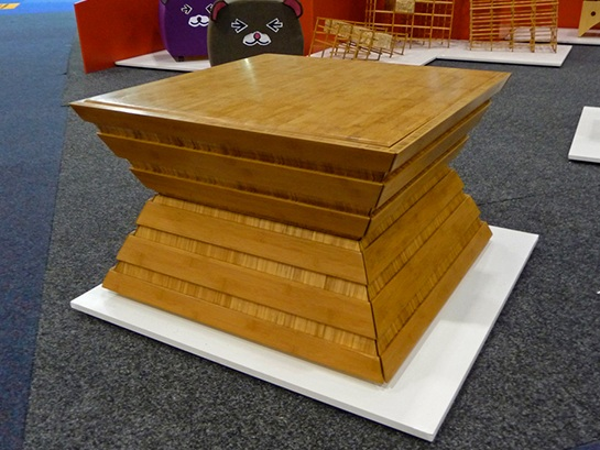 Squash Coffee Table with drawers closed.