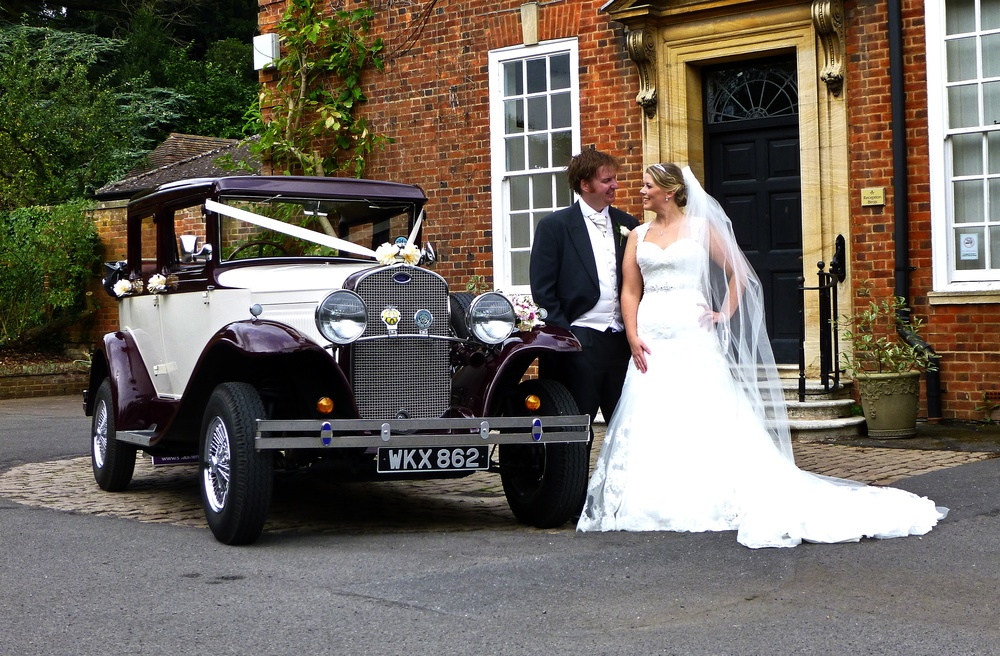 Travel in Style - If you've always dreamed of arriving at your Wedding Ceremony in true luxury and style then you may have found your perfect car.With nearly 30 years in the Wedding Business we take care of all your transport needs. Locally owned and operated in Burbage, Leicestershire. You will notice from the photos that the Badsworth is no ordinary car. It features a landaulette hood over the rear seats which can be lowered and raised in seconds by the occupants. Perfect in Winter or Summer!