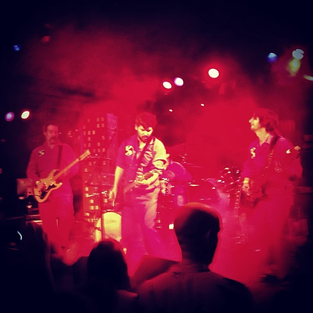 Last night's show. We had no cameras going, no pro rock shots, no video, just us, some smoke, a hand built stage setup and a hall full of fantastic people…and Godzilla! Thank you Belly Up and Steve Poltz! #truckeebrothers