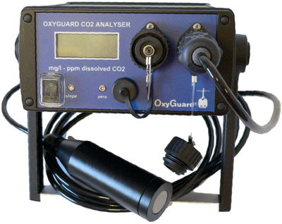 Unlike most aqueous CO2 probes, the OxyGuard CO2 Analyzer utilizes an infra-red CO2 measurement cell.
