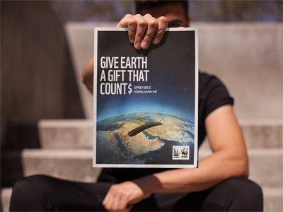 ews-wwf -give earth a gift that count  to kick off their presence on justgiving.com, ews-wwf asked us to create a campaign for the festive season, which resulted in the online activation 'give earth a gift that count$'.