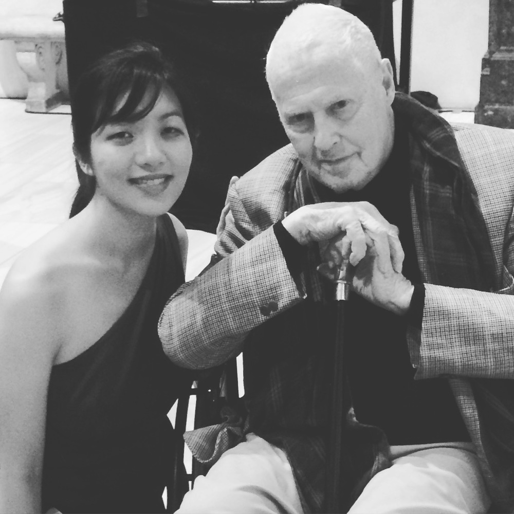 Elizabeth Joy Roe and Ned Rorem (Met Museum, October 3, 2015)