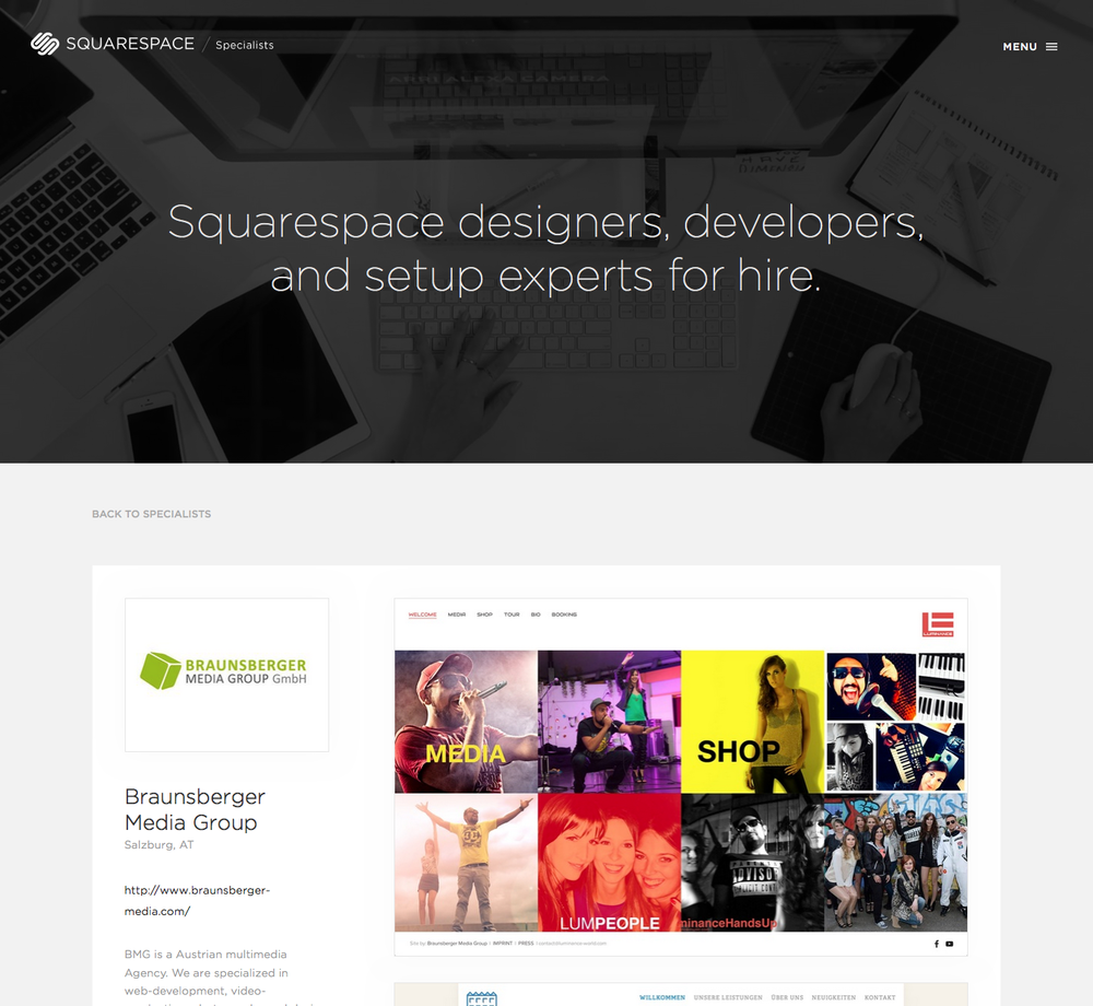 Our Profile @ Squarespace Specialists