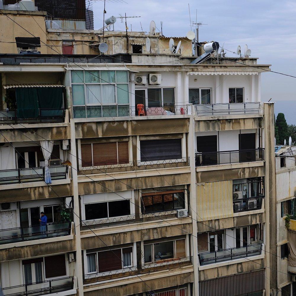 Outside my window: left