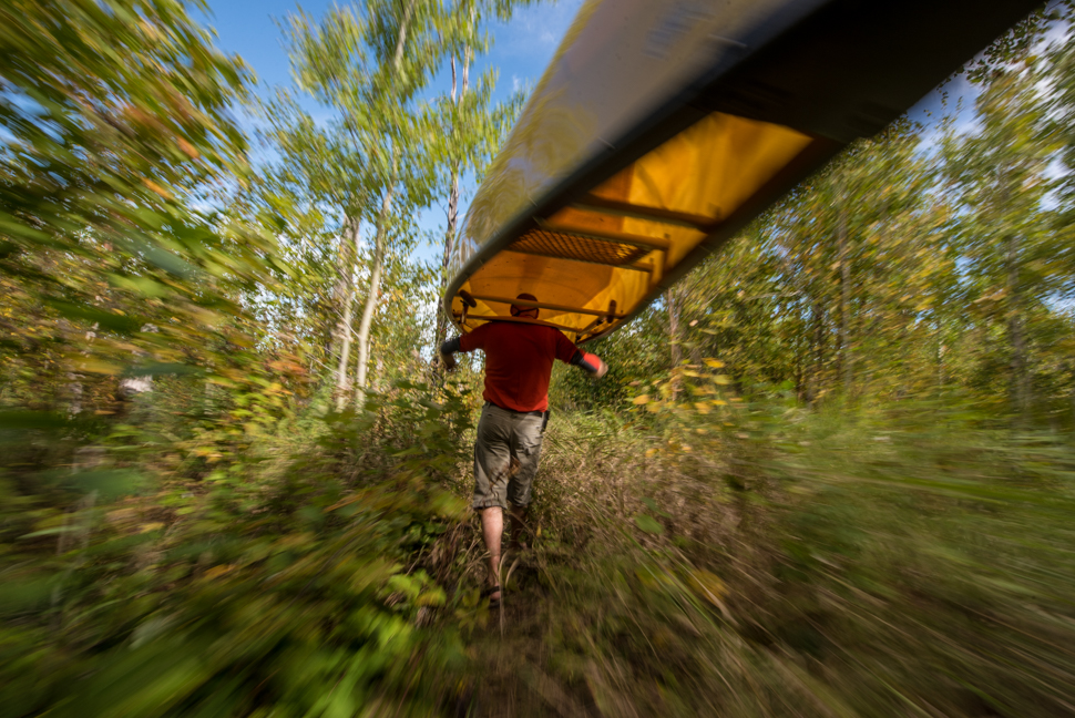 Darren Bush.  Paddling, portaging and camping in the Boundary Waters Canoe Area Wilderness in Northern Minnesota.