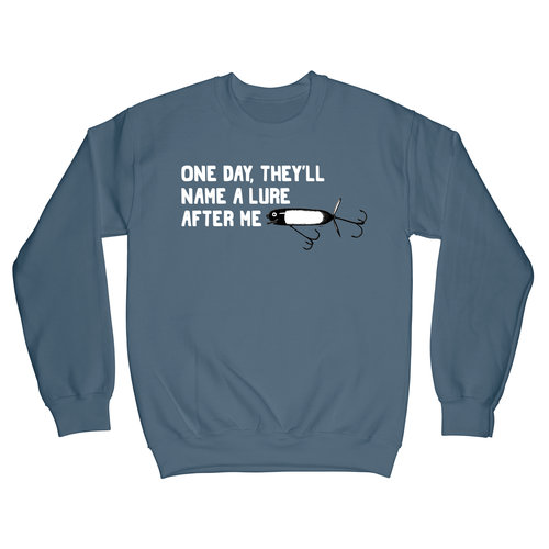 543547acc One Day Lure Funny Fishing Fleece - Crewneck Sweatshirt