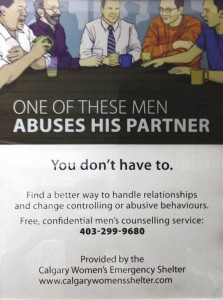 Anti-abuse poster found in men's bathrooms on campus. Photo: Will Conner