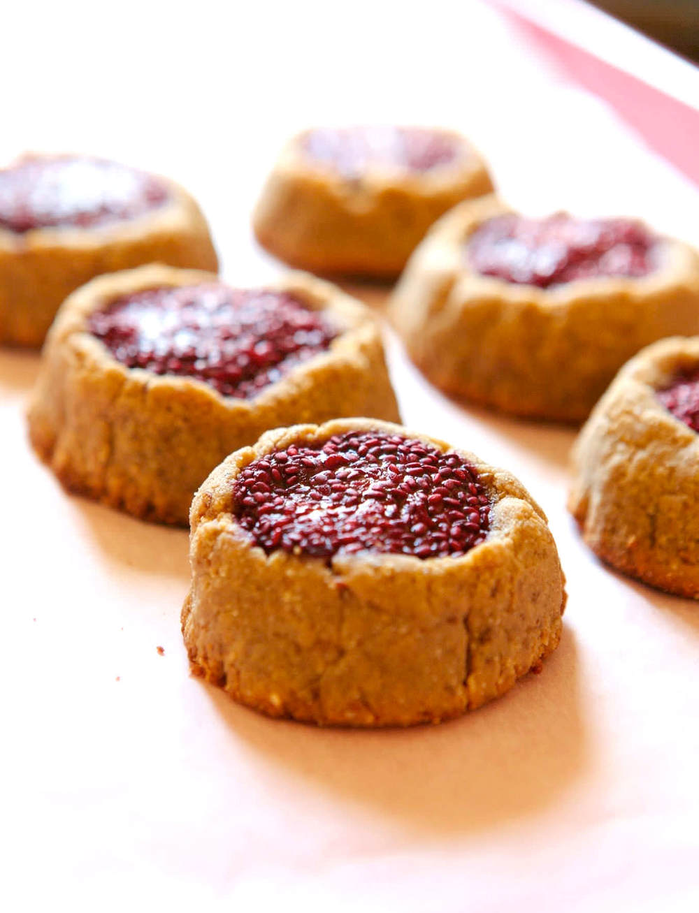 Peanut Butter & Jelly Cookies....the healthy recipe!