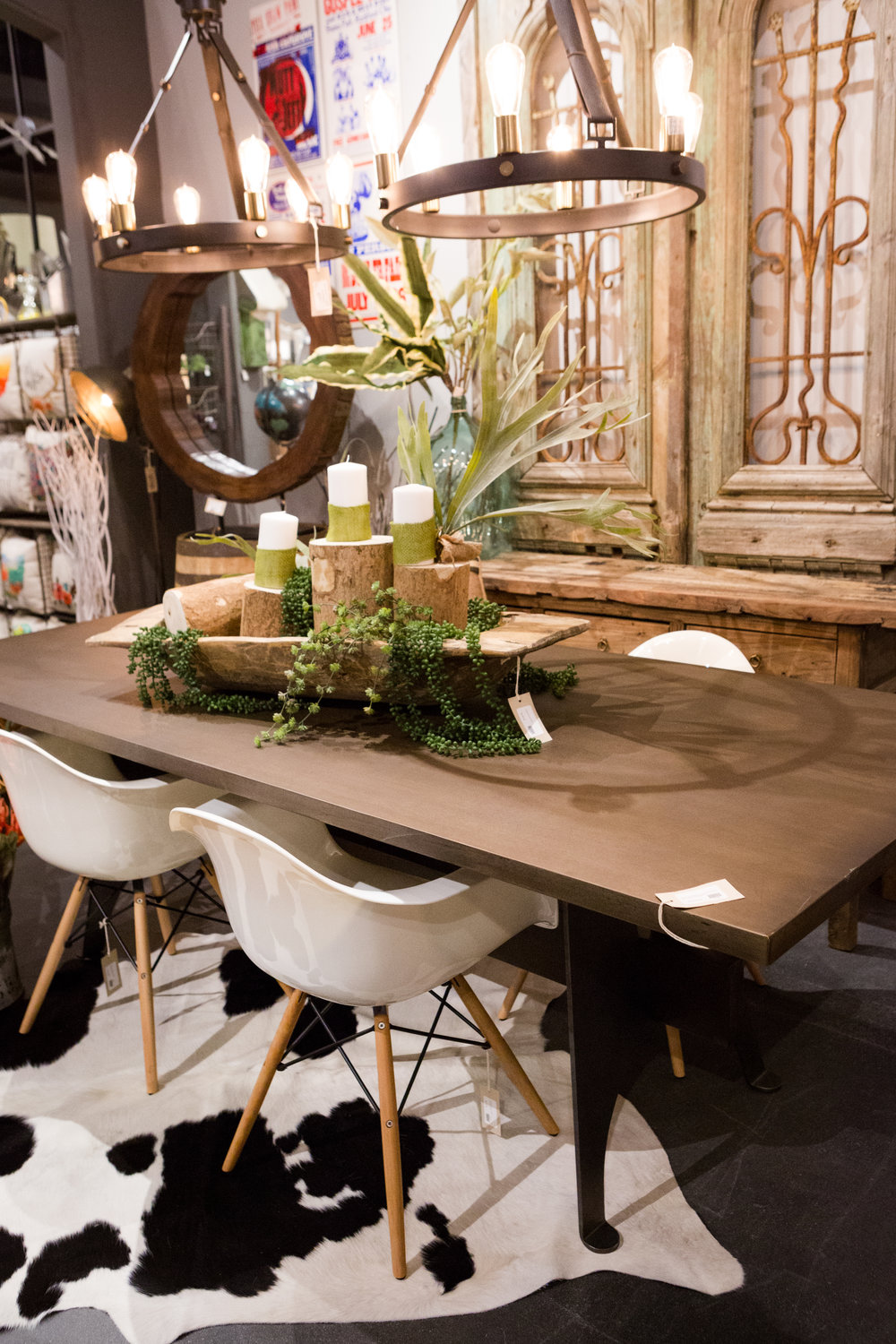 Mango Wood/Metal Dining Table $2,049.00