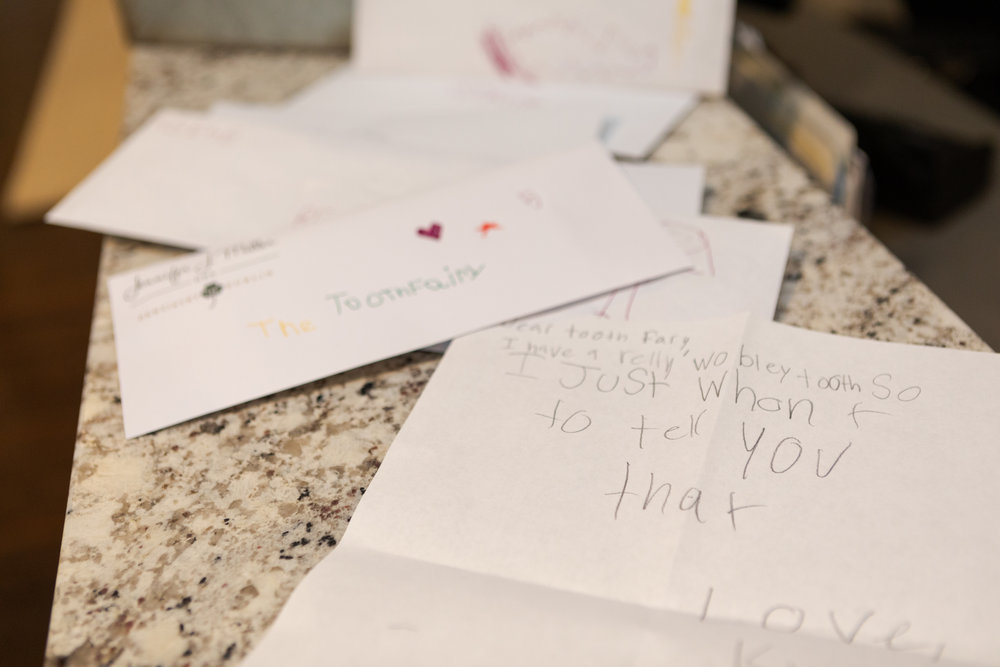 Notes to the Tooth Fairy. Adorable!