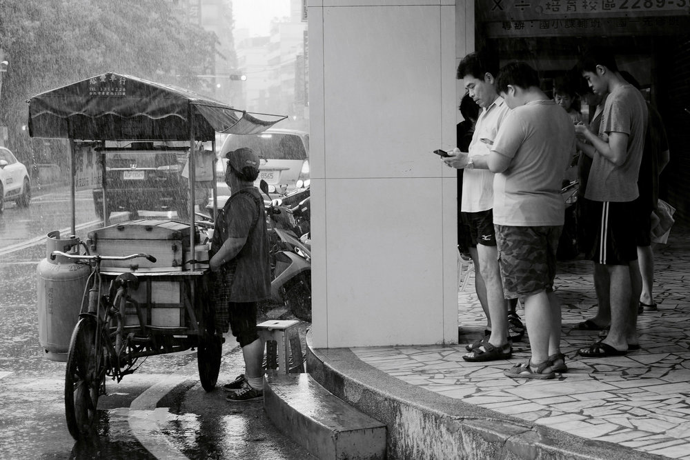 rainfall on the street