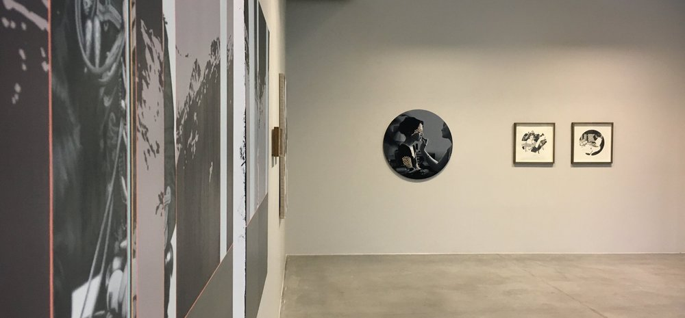 Installation shot of Machinations (30 March - 23 April) at Galleri Semmingsen 2017. Photo Marie Harnett.