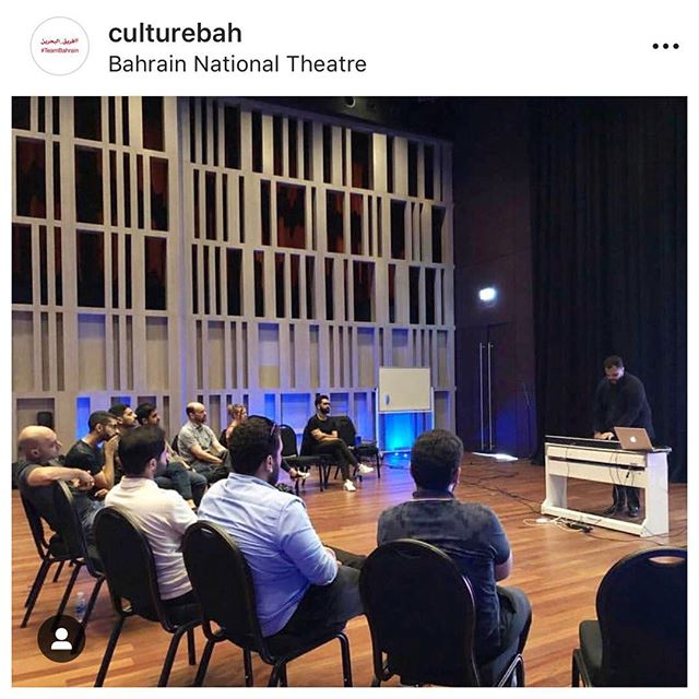 "Late post. This weekend had a blast giving a master class on ""Modern Harmony"" under one of @culturebah educational workshops this season. @bjonsax #Bahrain @bahrainconfidential @bahrain_101"