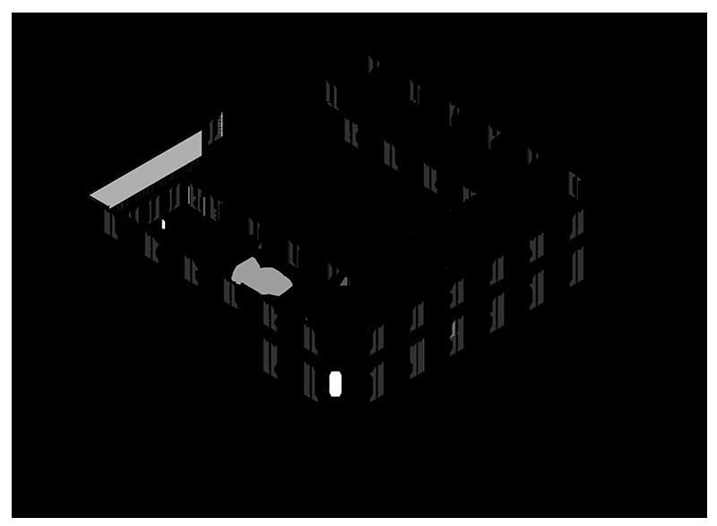 Axonometrie du rez-de-chaussée