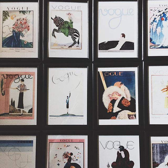 Vintage vogue prints for next week's event turned out niiice 👌🏻 #hellodarlington #darlingtonflowers