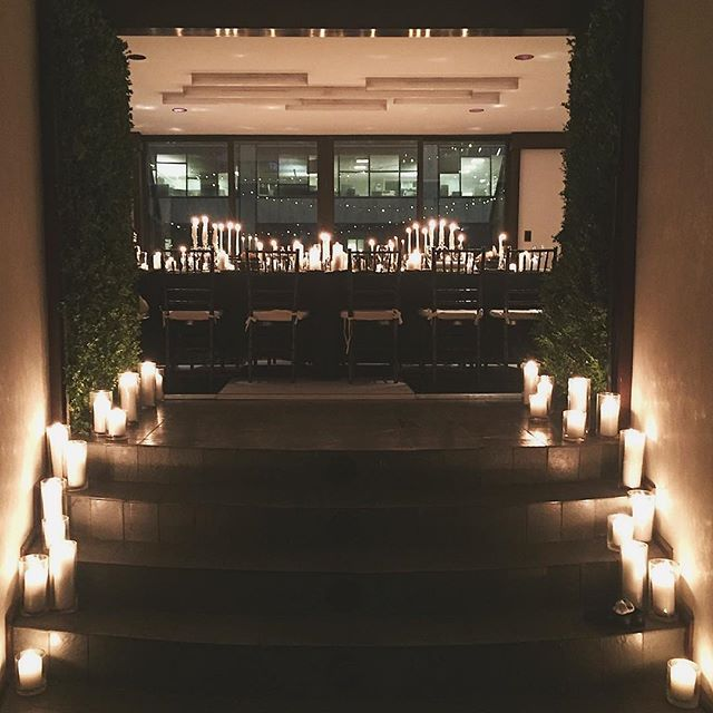Last night's intimate and elegant wedding complete with greenery walls and candles. A LOT of candles. #hellodarlington #darlingtonflowers
