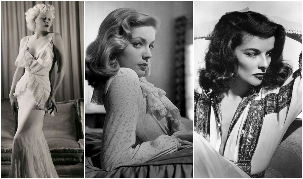 Jean Harlow, Lauren Bacall e Katherine Hepburn