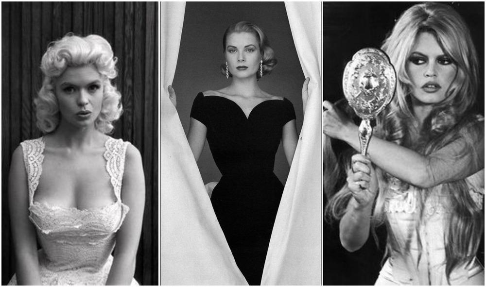 Jayne Mansfield, Grace Kelly e Bridget Bardot