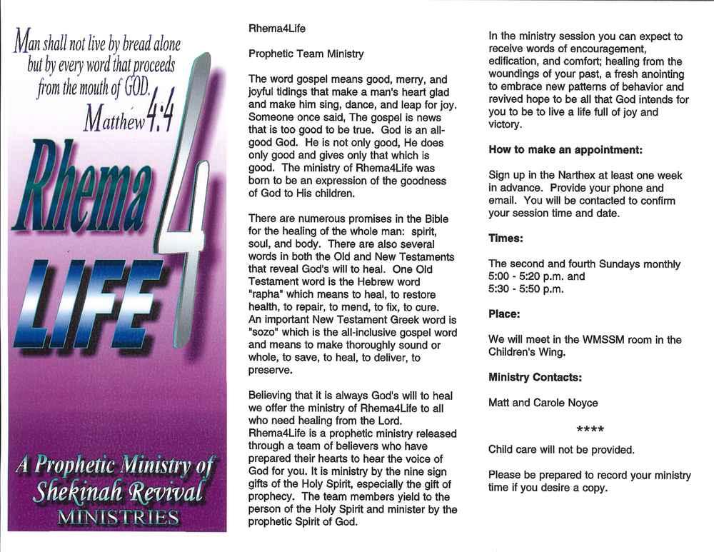 Prophetic Shekinah Revival Ministries
