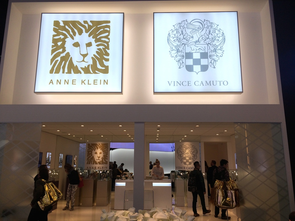 Anne Klein and Vince Camuto stand