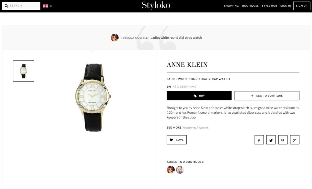 The Anne Klein Ladies Round Dial Strap Watch on Styloko